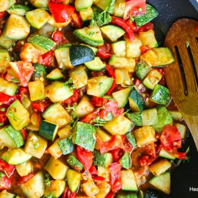 Coriander Cumin Summer Squash with Tomatoes