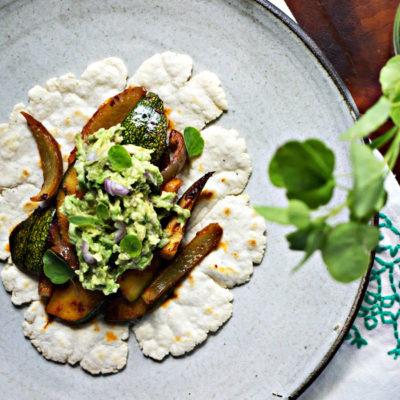 Summer Squash Tacos with Papalo Guacamole