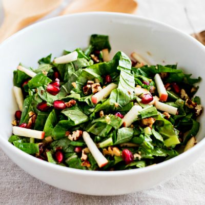 Tendergreen Salad with Maple Dijon Vinaigrette